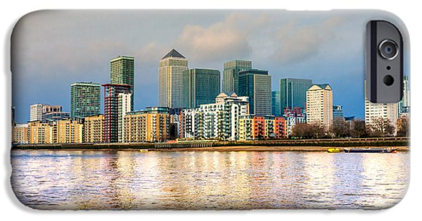 Financial Interest iPhone Cases - Canary Wharf - London - UK iPhone Case by Luciano Mortula
