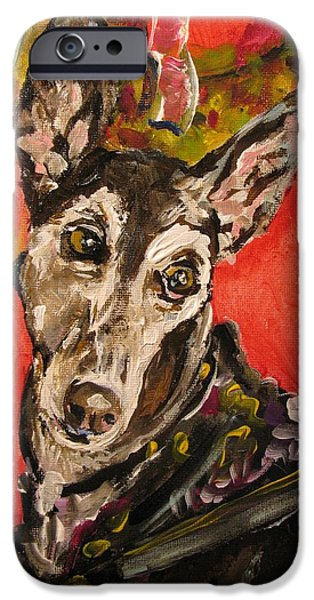 Rescued Greyhound iPhone Cases - Candi Suzanne iPhone Case by Susan E Jones
