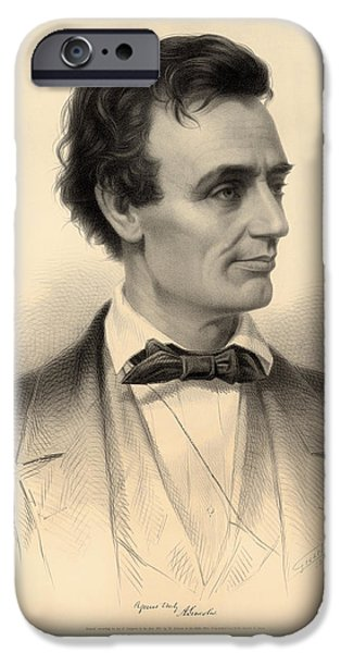 Presidential Elections iPhone Cases - Candidate for the Presidency Abraham Lincoln 1860 iPhone Case by Mountain Dreams