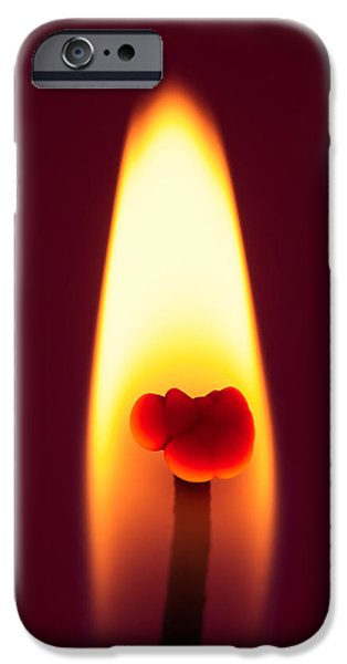 Candle Flame Macro iPhone Case by Wim Lanclus