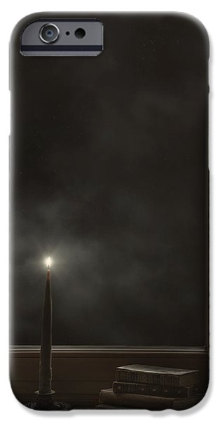 Ledge iPhone Cases - Candle Light iPhone Case by Joana Kruse
