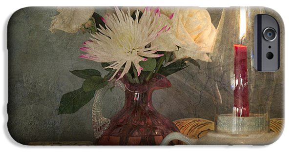 Hurricane Lamp iPhone Cases - Candlelight iPhone Case by Betty LaRue