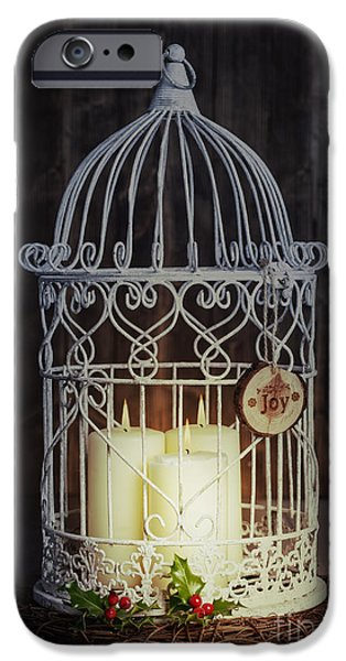 Birdcage iPhone Cases - Candles At Night iPhone Case by Amanda And Christopher Elwell
