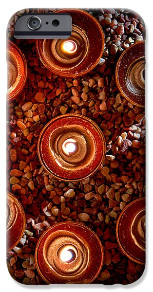 Candles Spiritual Circle iPhone Case by Olivier Le Queinec