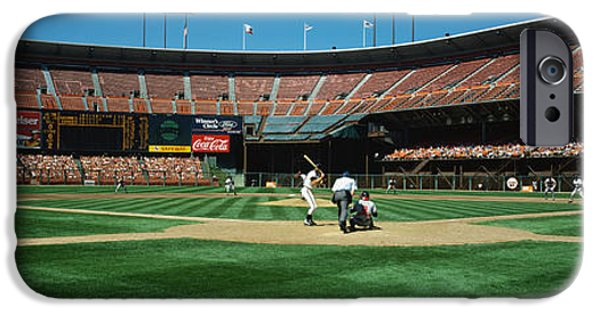 Pastimes iPhone Cases - Candlestick Park San Francisco Ca iPhone Case by Panoramic Images