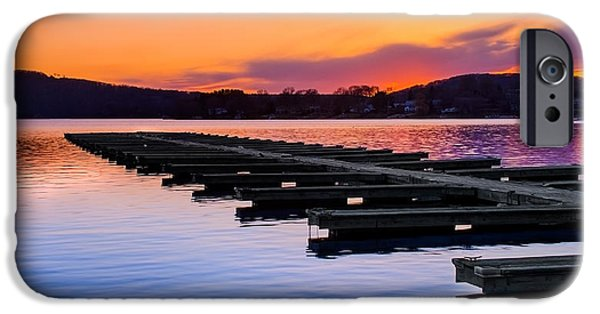 Connecticut Landscape iPhone Cases - Candlewood Lake iPhone Case by Bill  Wakeley
