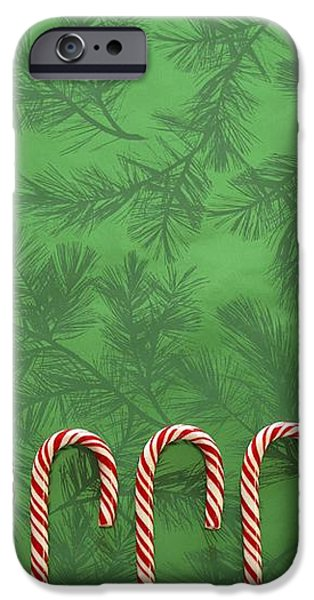 Candy Canes iPhone Case by Colette Scharf