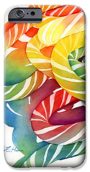 Hard Candies iPhone Cases - Candy Canes iPhone Case by Hailey E Herrera