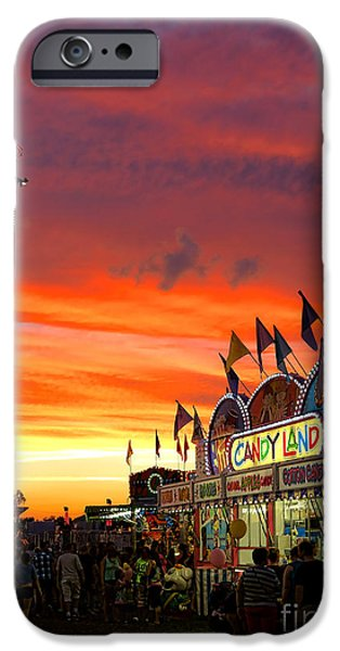 Gathering Photographs iPhone Cases - Candy Land iPhone Case by Olivier Le Queinec