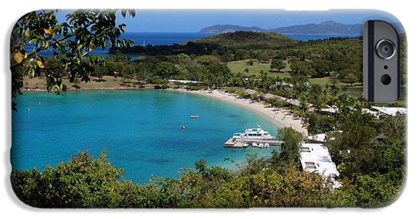 Boat iPhone Cases - Caneel Bay St John iPhone Case by Johnny A