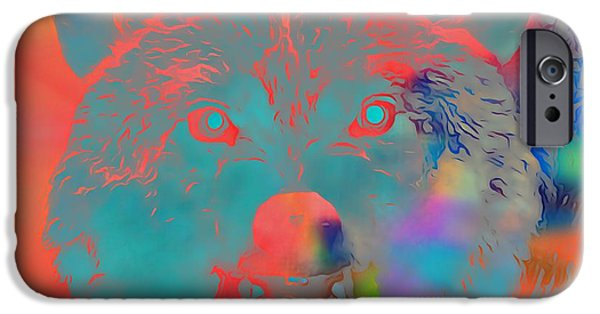 Wolf Digital Art iPhone Cases - Canis Lupus iPhone Case by Dan Sproul