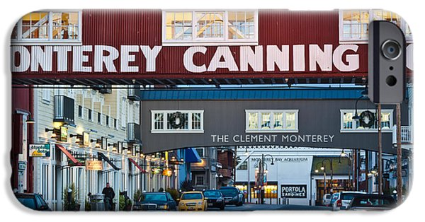 Industry iPhone Cases - Cannery Row Area At Dawn, Monterey iPhone Case by Panoramic Images