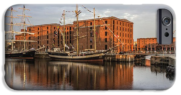 Tall Ship iPhone Cases - Canning Dock and Albert Dock iPhone Case by Paul Madden