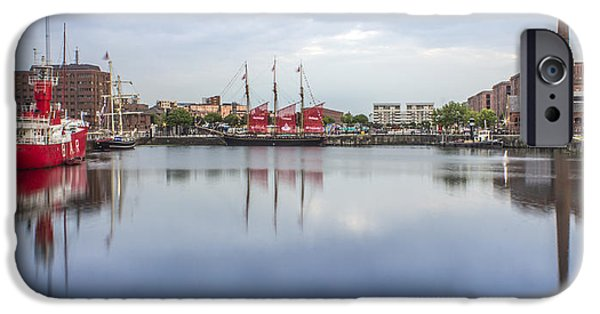 Tall Ship iPhone Cases - Canning Dock reflections iPhone Case by Paul Madden