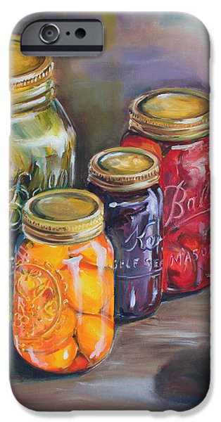 Canning Jars iPhone Case by Kristine Kainer