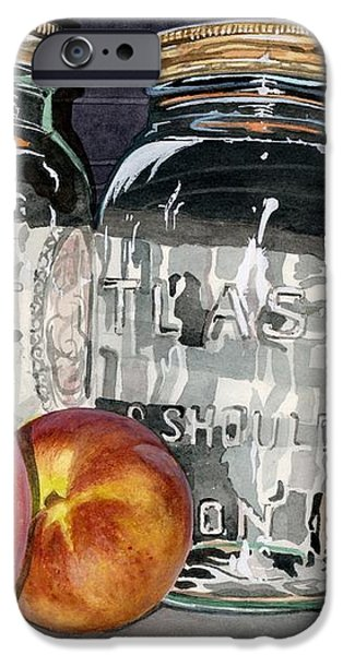 Water Jars Paintings iPhone Cases - Canning Time iPhone Case by Barbara Jewell