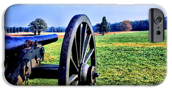 Prince William iPhone Cases - Cannon At Manassas National Battlefield iPhone Case by Panoramic Images