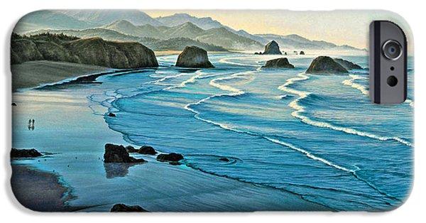 Oregon Coast iPhone Cases - Cannon Beachcombers iPhone Case by Paul Krapf