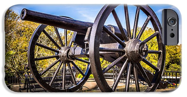 Artillery iPhone Cases - Cannon in New Orleans Washington Artillery Park iPhone Case by Paul Velgos