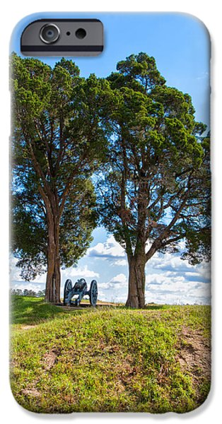 Yorktown Virginia iPhone Cases - Cannon on a Hill iPhone Case by John Bailey