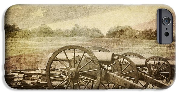 Arkansas iPhone Cases - Cannons at Pea Ridge iPhone Case by Pam  Holdsworth