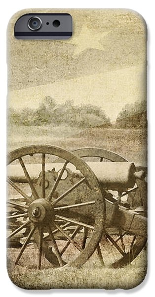 Cannons at Pea Ridge iPhone Case by Pam  Holdsworth