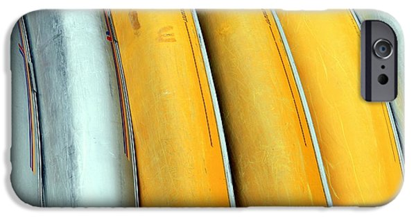 Canoe iPhone Cases - Canoe Abstract iPhone Case by Valentino Visentini