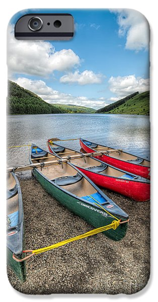 Canoe iPhone Cases - Canoe Break iPhone Case by Adrian Evans