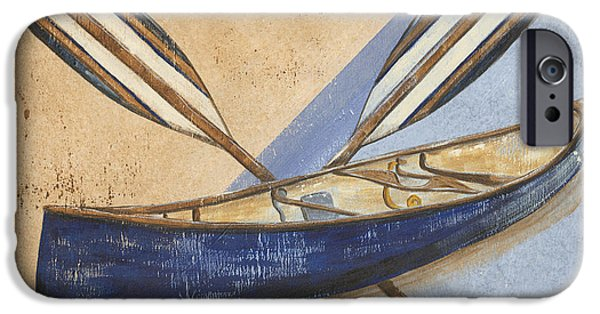 Graphic Design iPhone Cases - Canoe Rentals iPhone Case by Debbie DeWitt