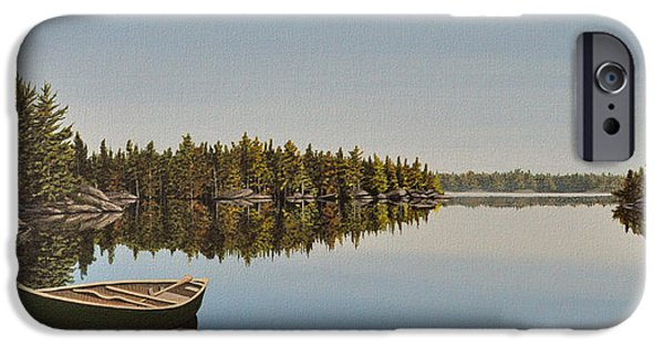 Canoe iPhone Cases - Canoe The Massassauga iPhone Case by Kenneth M  Kirsch