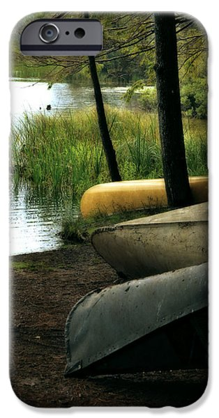 Canoe iPhone Cases - Canoe Trio iPhone Case by Michelle Calkins
