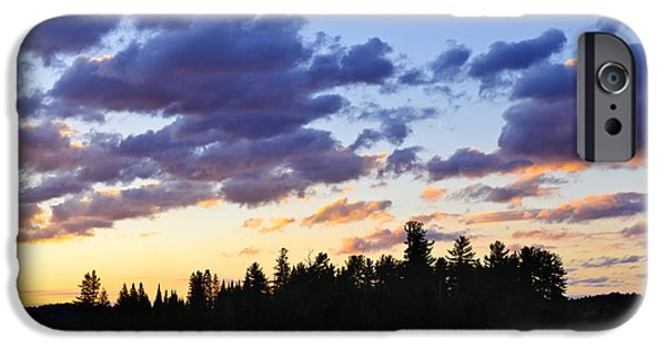 Canoeing iPhone Cases - Canoeing at sunset iPhone Case by Elena Elisseeva