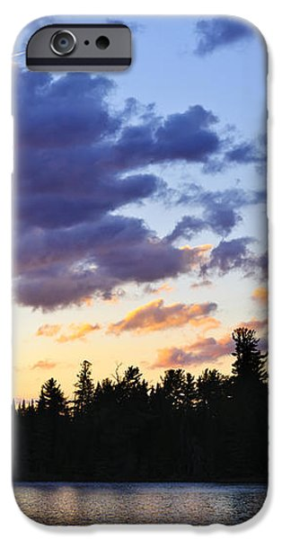 Canoeing at sunset iPhone Case by Elena Elisseeva