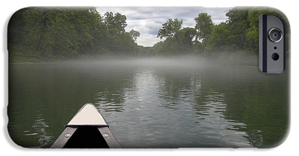 Kayak iPhone Cases - Canoeing the Ozarks iPhone Case by Adam Romanowicz