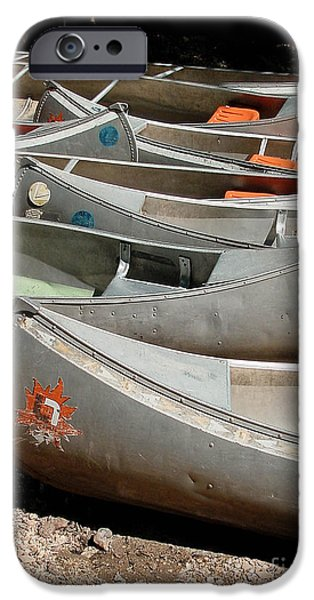 Canoe iPhone Cases - Canoes 143 iPhone Case by Gary Gingrich Galleries