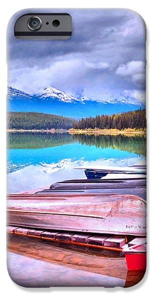 Canoes at Lake Patricia iPhone Case by Tara Turner