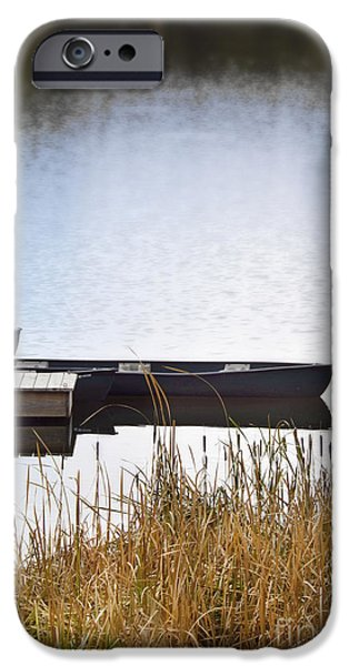 Canoe iPhone Cases - Canoes at the Dock iPhone Case by Jill Battaglia