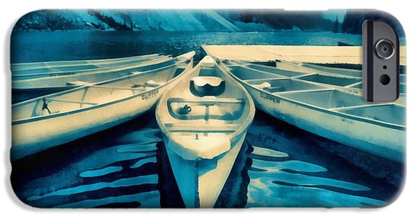 Alberta iPhone Cases - Canoes iPhone Case by Edward Fielding