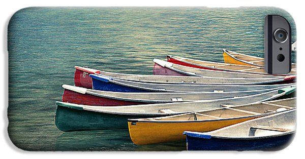 Canoe iPhone Cases - Canoes  iPhone Case by Maria Angelica Maira