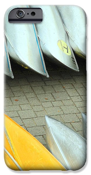 Canoe iPhone Cases - Canoes iPhone Case by Valentino Visentini