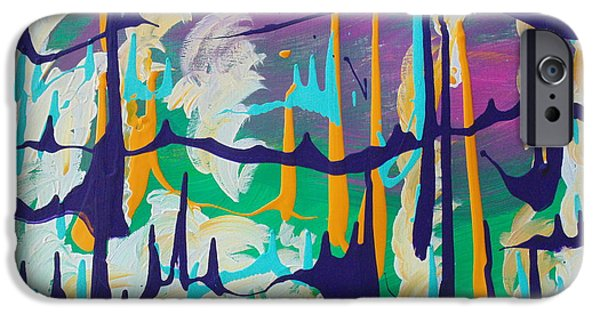Tree Art Print iPhone Cases - Cant See the Forest for the Trees iPhone Case by Dotti Hannum