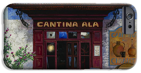 Village iPhone Cases - cantina Ala iPhone Case by Guido Borelli