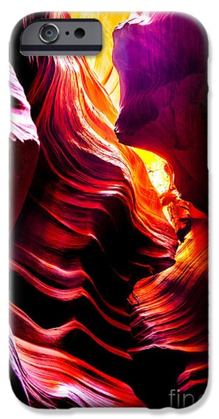 Shape iPhone Cases - Canyon Cascade iPhone Case by Az Jackson
