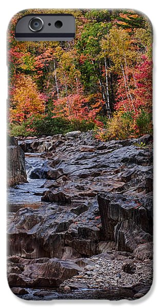 Canyon color rushing waters iPhone Case by Jeff Folger