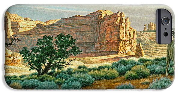 National Park Paintings iPhone Cases - Canyon Country Buck iPhone Case by Paul Krapf
