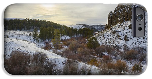Snowy Day iPhone Cases - Canyon Creek iPhone Case by Idaho Scenic Images Linda Lantzy
