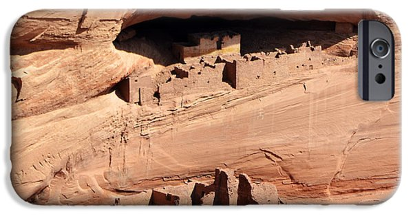 White House iPhone Cases - Canyon de Chelly Anasazi White House Ruin Arizona Square Format iPhone Case by Shawn O