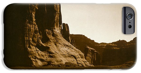 1904 iPhone Cases - Canyon de Chelly circa 1904 iPhone Case by Aged Pixel