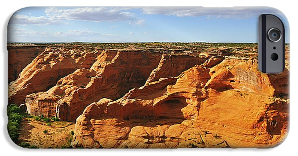 Chelly iPhone Cases - Canyon de Chelly from Face Rock Overlook iPhone Case by Christine Till