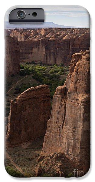 David iPhone Cases - Canyon de Chelly II color iPhone Case by David Gordon